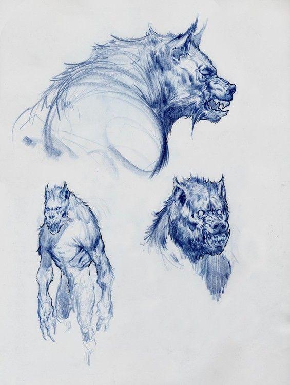 Werewolf sketches   Lycan´s   Pinterest   Hombres lobo, Lobos y Criatura