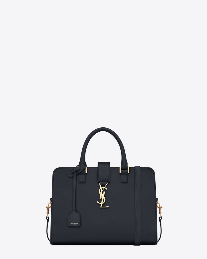 962bd79f11a Small Monogram Saint Laurent Cabas Bag in Navy Blue Leather | Bags ...