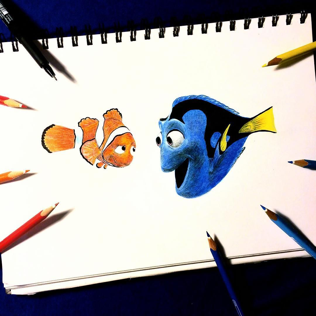 Pencil Sketch Of Baby Dory Pencil Drawing Finding Dory