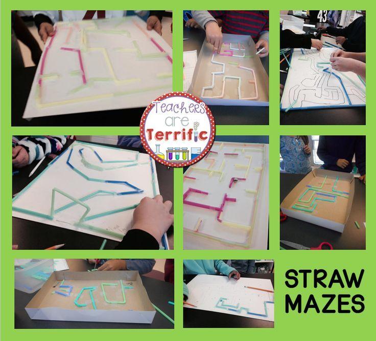 Straw Mazes STEM Quick Challenge