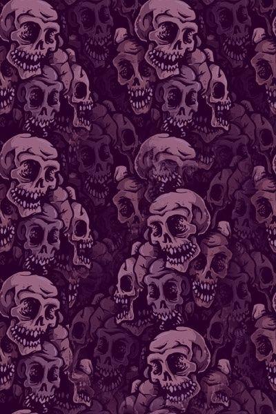 Purple Skulls Wallpaper Skull Wallpaper Skull Art Wallpaper Cool color skull wallpaper