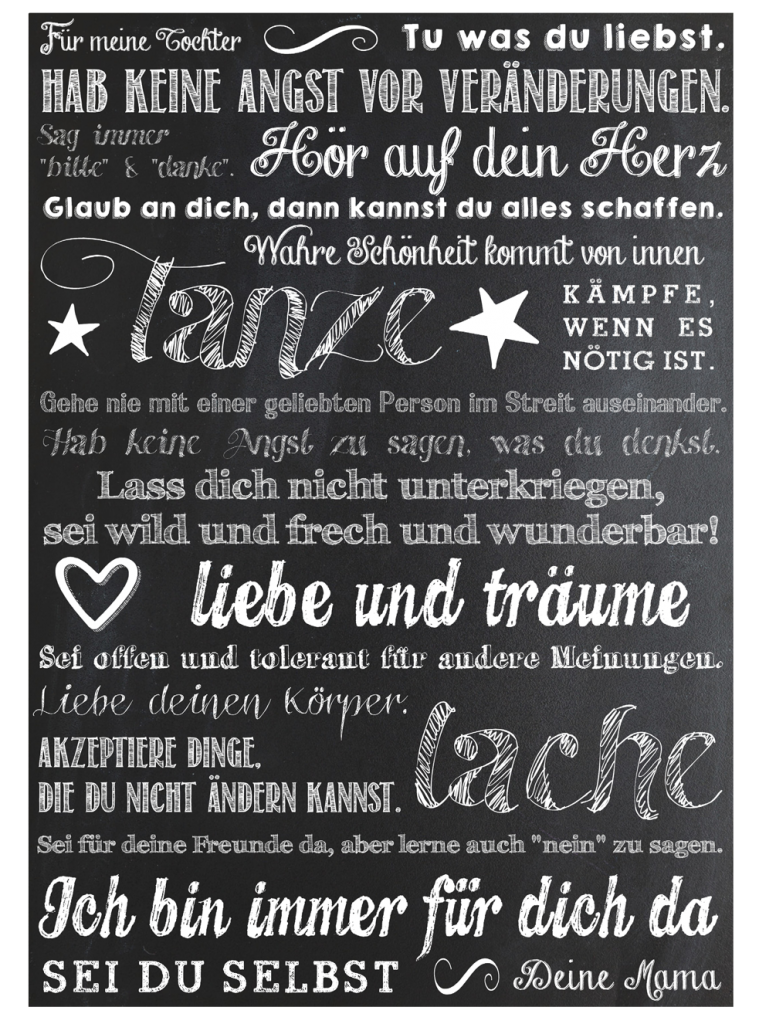 Freebie ✪ Botschaft an meine Kinder | Printables | Pinterest | Baby ...
