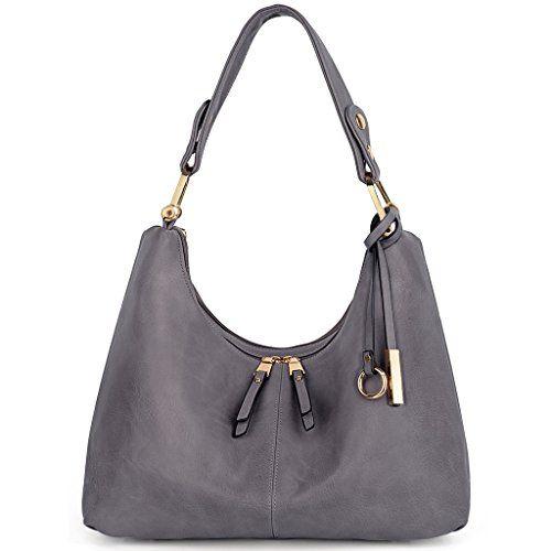 11fc97e7229e Uto Women Handbag Pu Leather Purse Hobo Style Shoulder Bag Grey