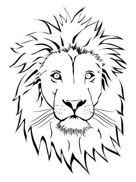 Baixe Branco Leon Rosto Vector Clip Art Gratuitamente Lion Face