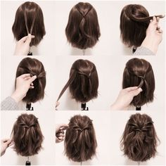 such an easy do for short hair!