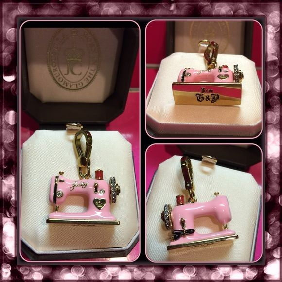 NWT JUICY COUTURE RARE PINK SEWING MACHINE CHARM NWT JUICY Inspiration Juicy Couture Sewing Machine Charm