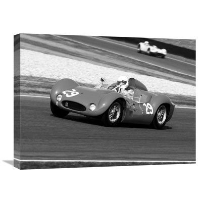 "Global Gallery Historical Race-cars Photographic Print on Wrapped Canvas Size: 18"" H x 24"" W x 1.5"" D"