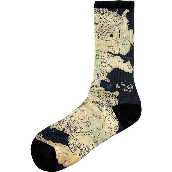 gallant & beau Men's Sublimation Map of Westeros Socks (£3 48