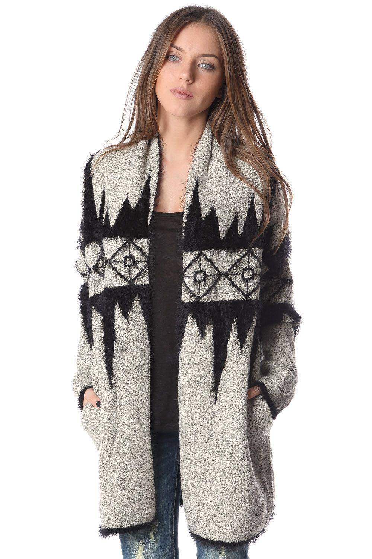 Q2 Cream Cardigan In Holidays Pattern | Shop Unspoken Fashion ...