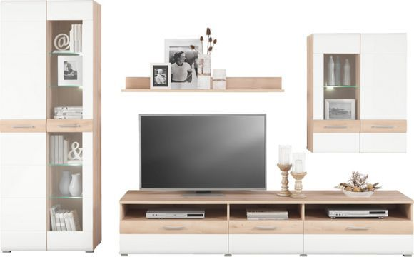 Diese Wohnwand von XORA erfüllt junge Wohnträume in Ihrem Zuhause - möbel wohnzimmer modern