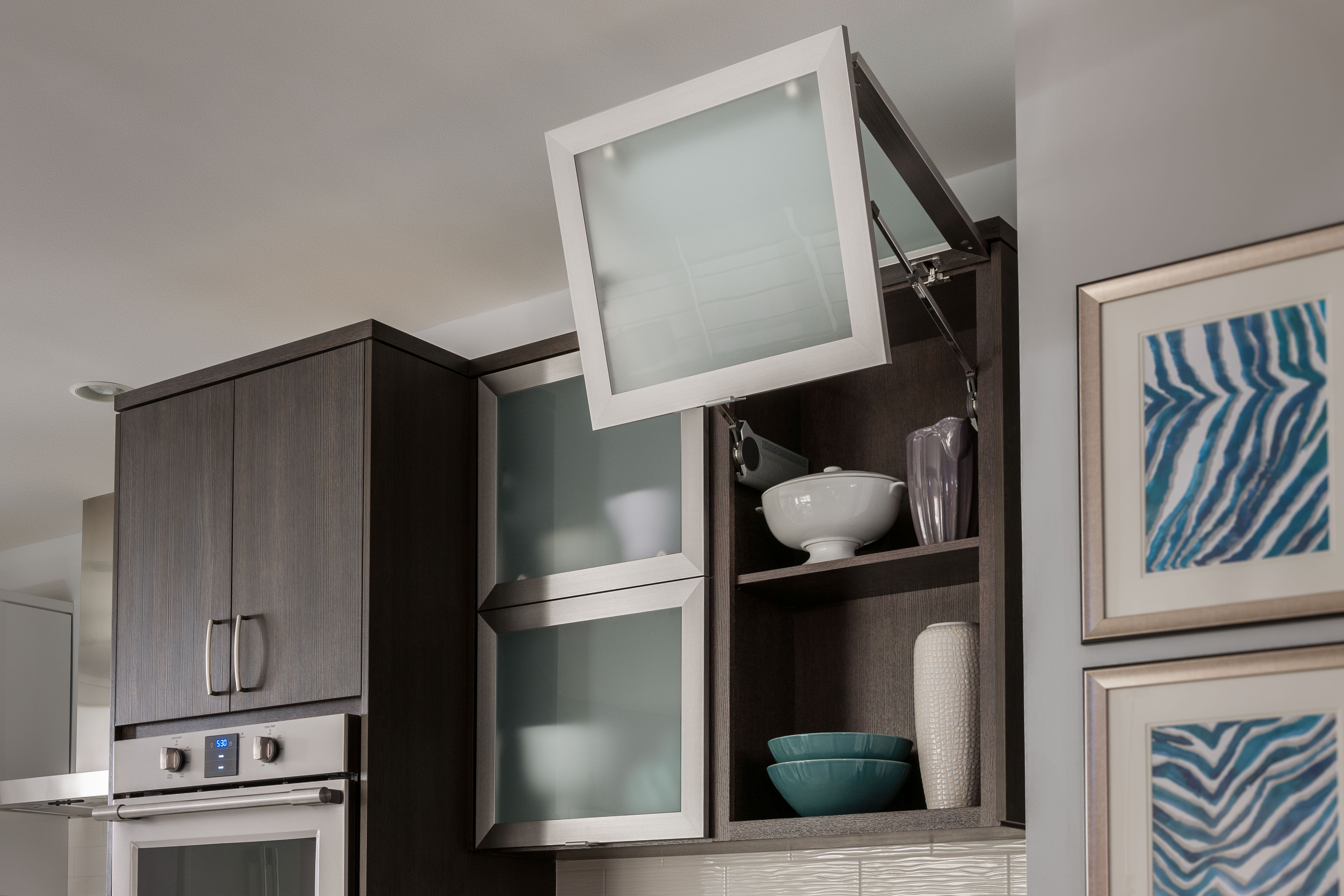 bi fold kitchen cabinet doors cool knives these wall cabinets are beautifully styled with