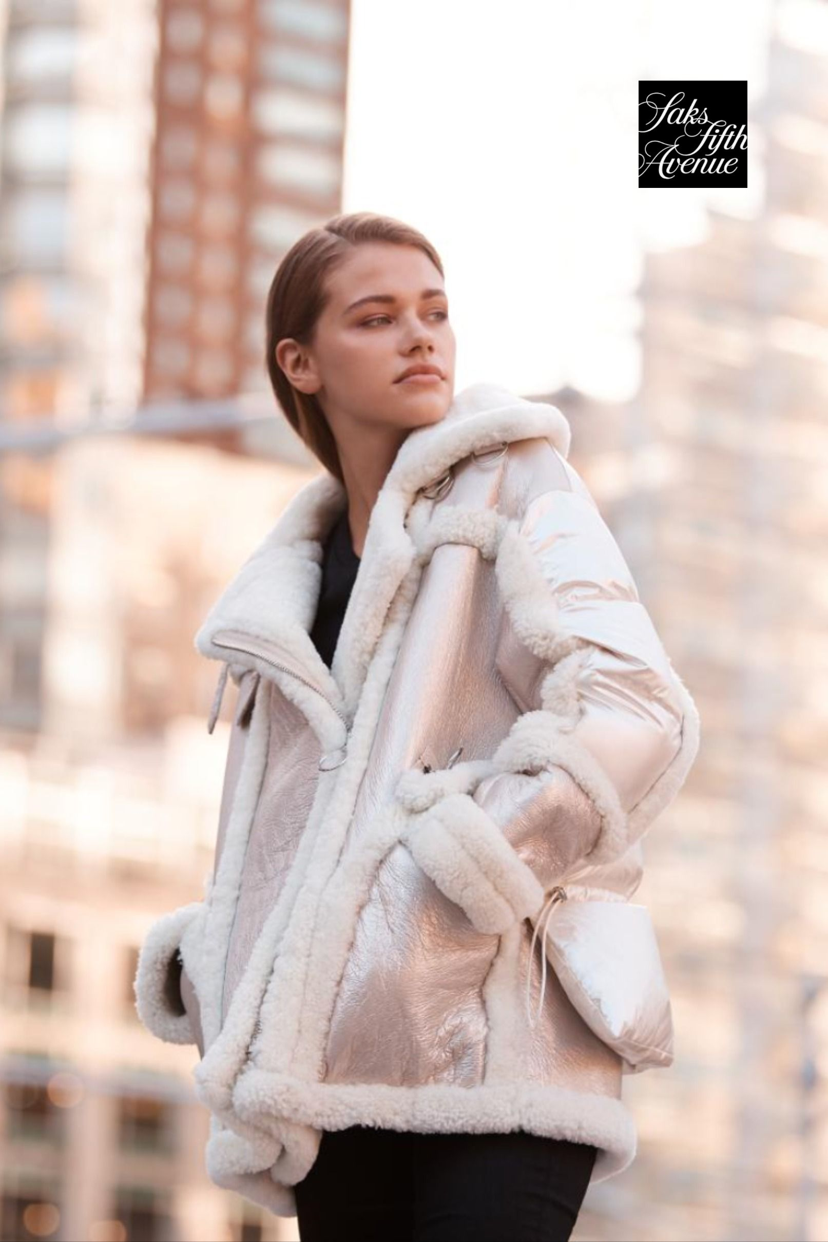 Winter Outfit Idea Nicole Benisti Montaigne Shearling Puffer Coat Winter Outfits Clothes For Women Puffer Coat [ 2419 x 1613 Pixel ]