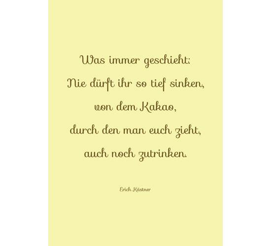 kaestner spruch nr. 3 ? zum thema zwischenmenschliche beziehungen ... - Sprüche Von Erich Kästner