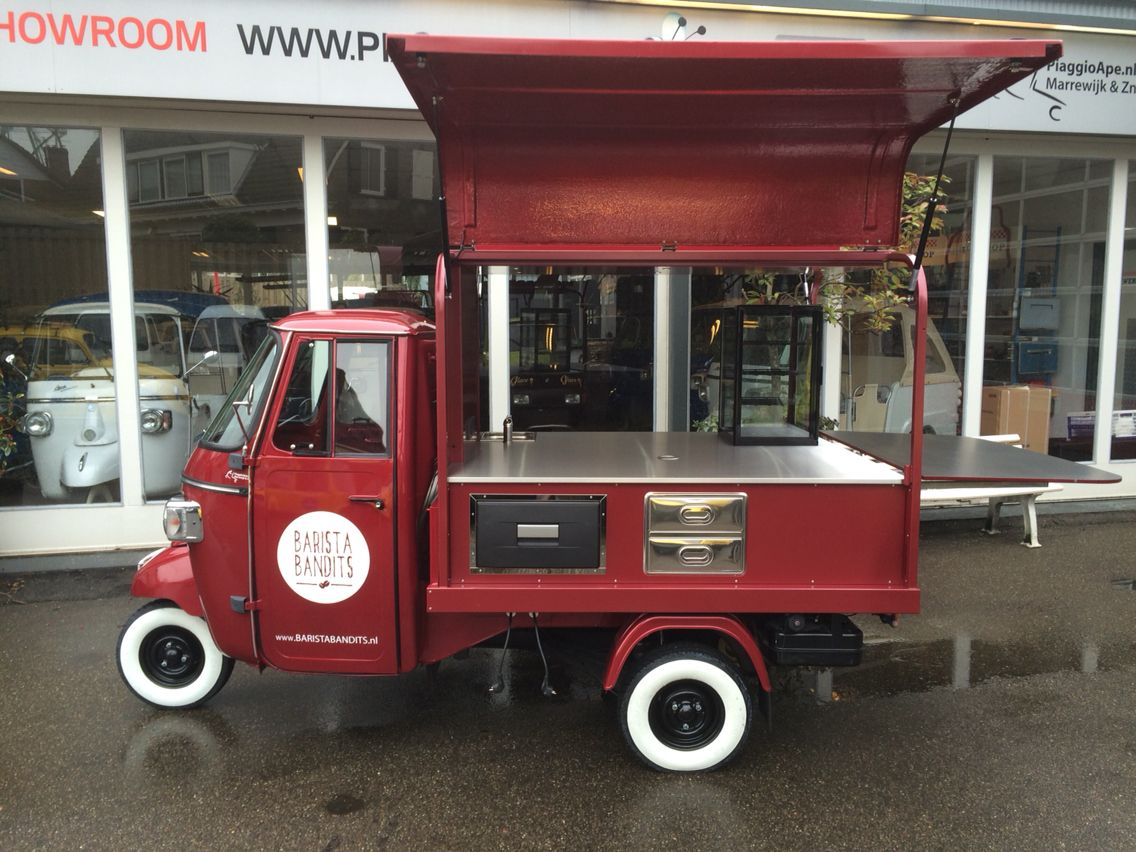 piaggio ape classic 400 with salesunit for coffee. Black Bedroom Furniture Sets. Home Design Ideas