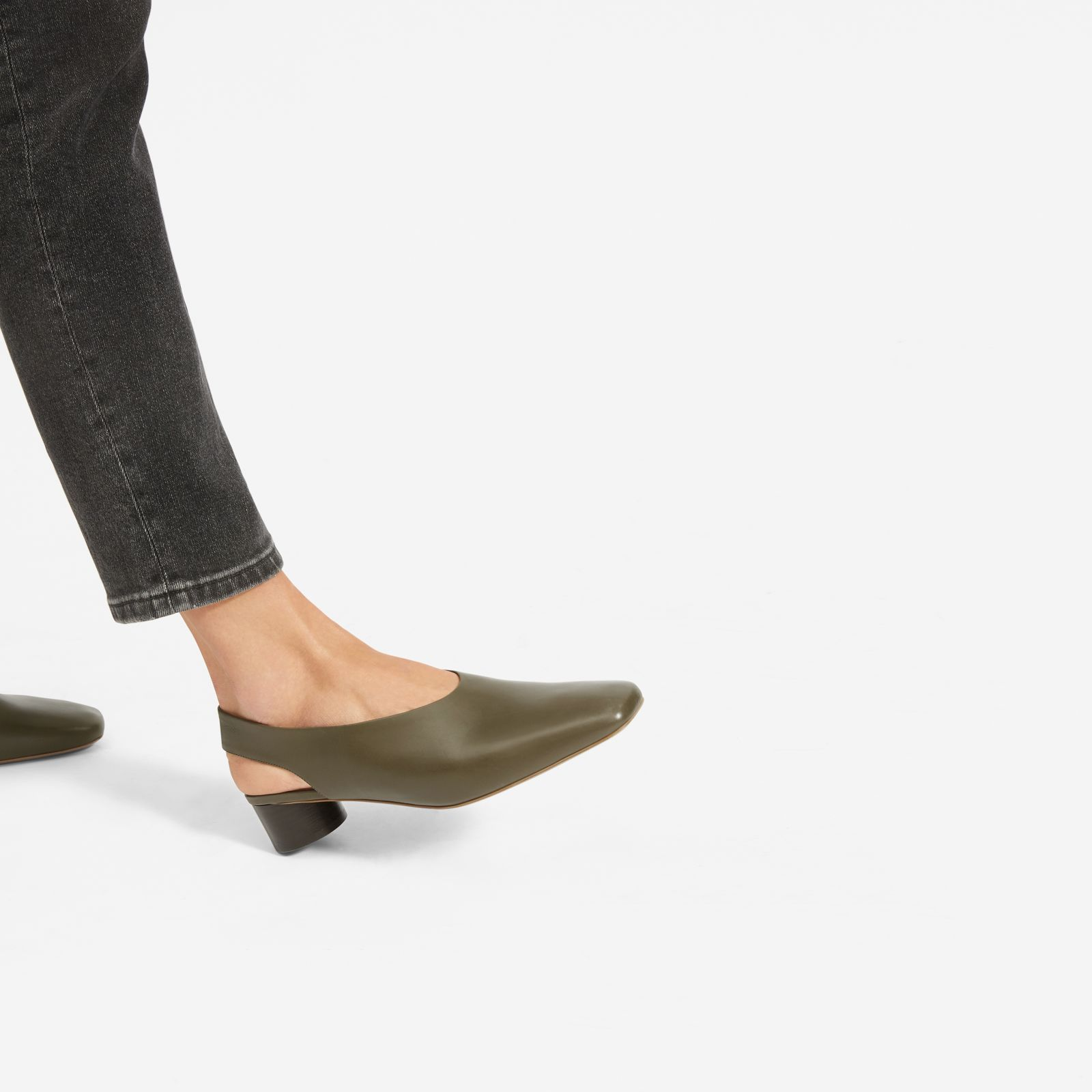 b12dcc77887d3 Everlane The Square Toe Slingback in 2019 | Products | Pump shoes ...