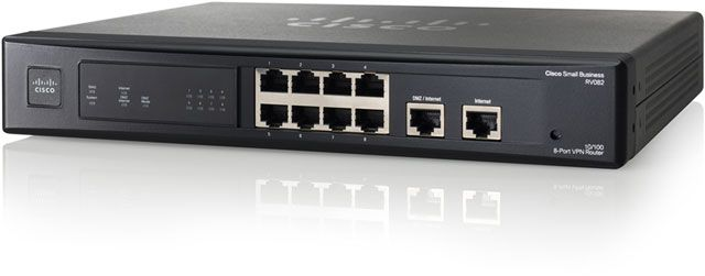 Router Cisco RV082 Dual WAN VPN - 8 puertos  | Routers