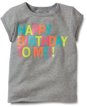Happy Birthday Tee Shirt Tshirt Neon Kid Kids Baby Sale Gray