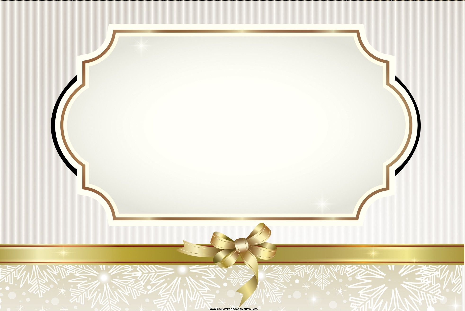Well-known convites de casamento com bordas douradas | Etiquetas De  PU52