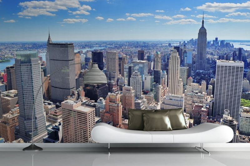 Sunshine New York Wall Mural Wall murals Sunshine and Walls