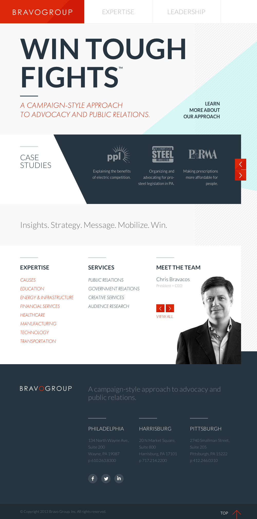 Bravo Group Website By Brad Hawkins Via Creattica Web Design