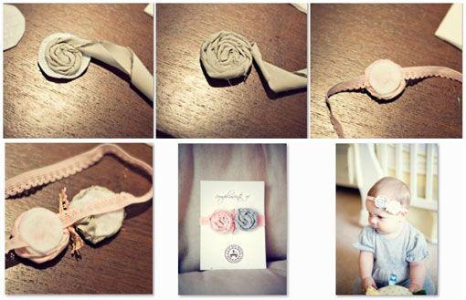 Como hacer una diadema con flores para bebes mo os - Como hacer diademas ...