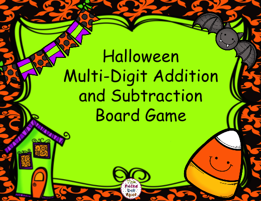 Halloween Addition and Subtraction Board Game. Use this fun ...