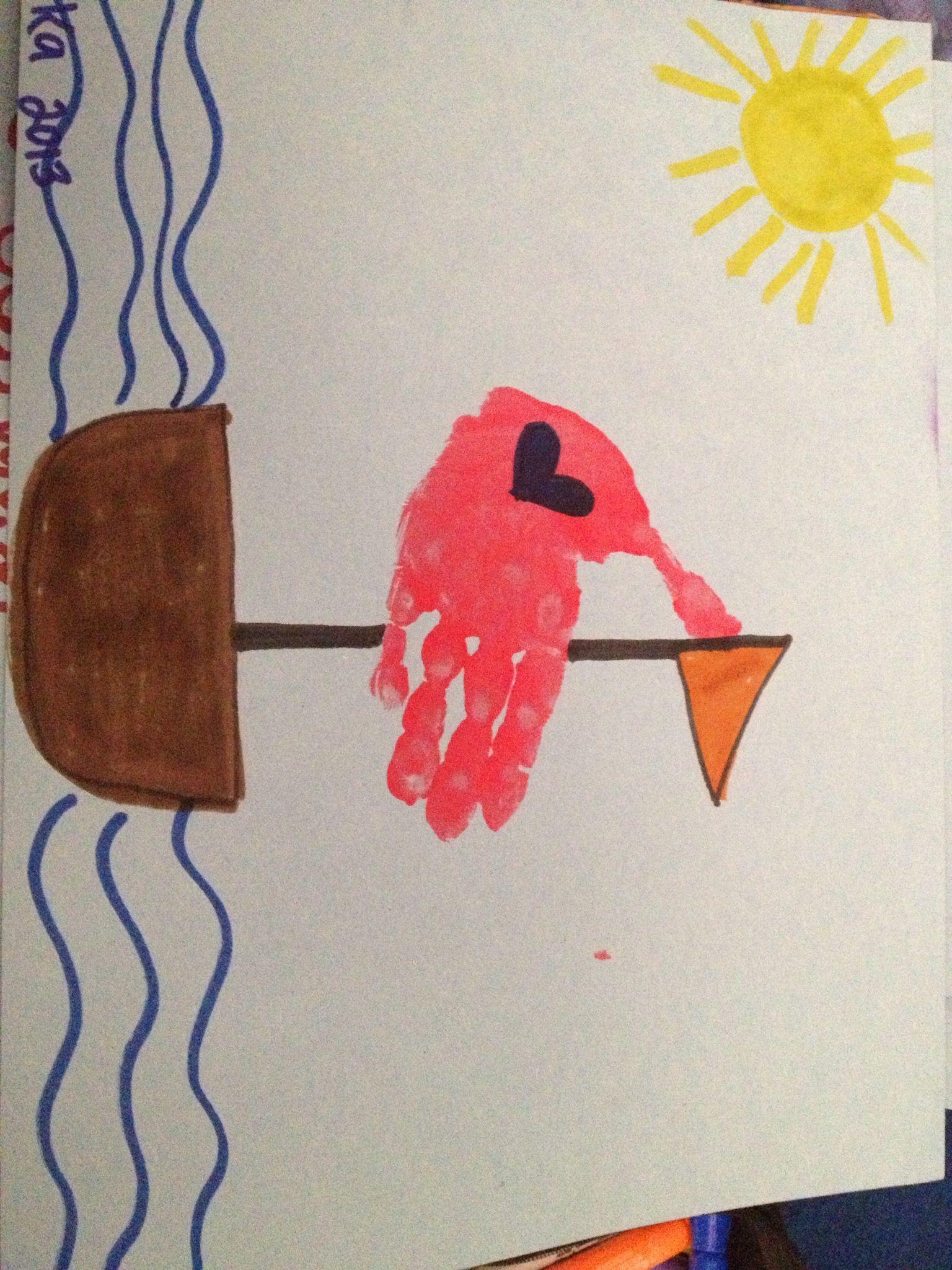 Sailboat handprint art   Summer theme for preschool ...