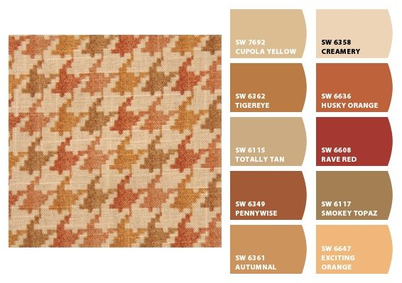Houndstooth Color Palette Inspiration Chip It! by Sherwin-Williams – Home