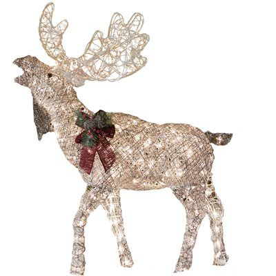 Holiday Living 48-in Lighted Vine Moose Outdoor Christmas Decoration - moose christmas decorations