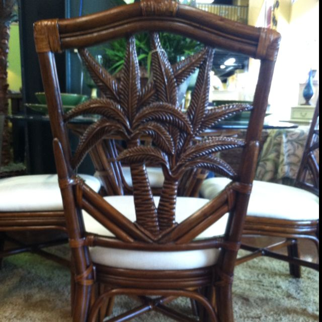 Palm Tree Dining Room Chair, Palm Tree Furniture