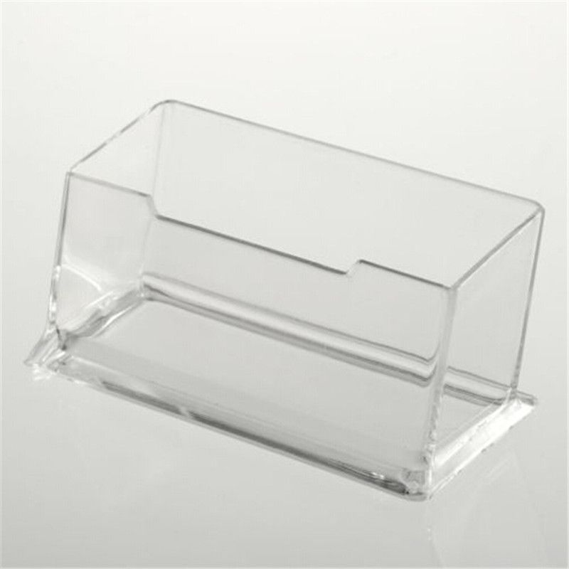 1pcs new clear desk shelf box storage display stand acrylic plastic new clear desk shelf box storage display stand acrylic plastic transparent desktop business card holder drop shipping reheart Images