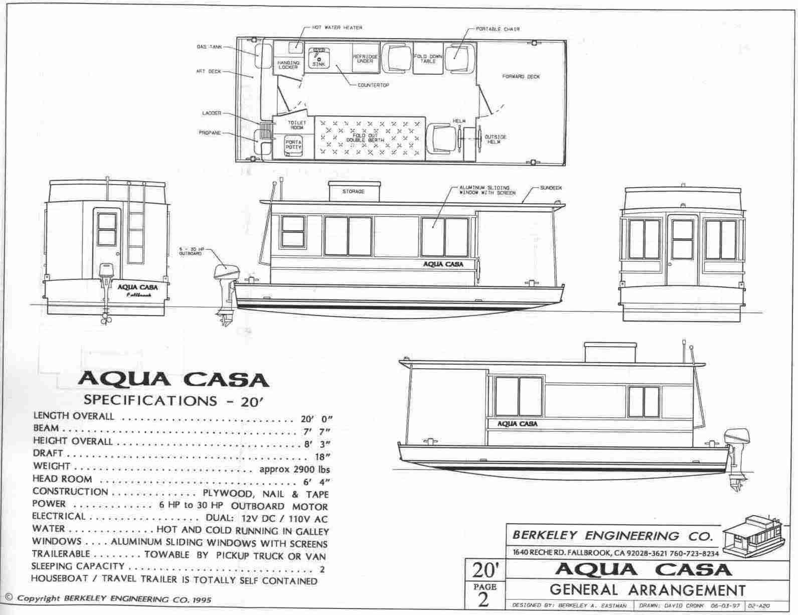 Aqua Casa Houseboat House Boat Shanty Boat Wooden Boat Plans
