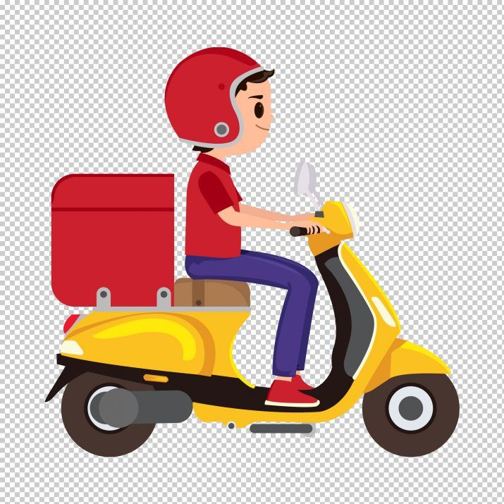 Delivery Boy Clipart Png In 2020 Sushi Delivery Food Delivery