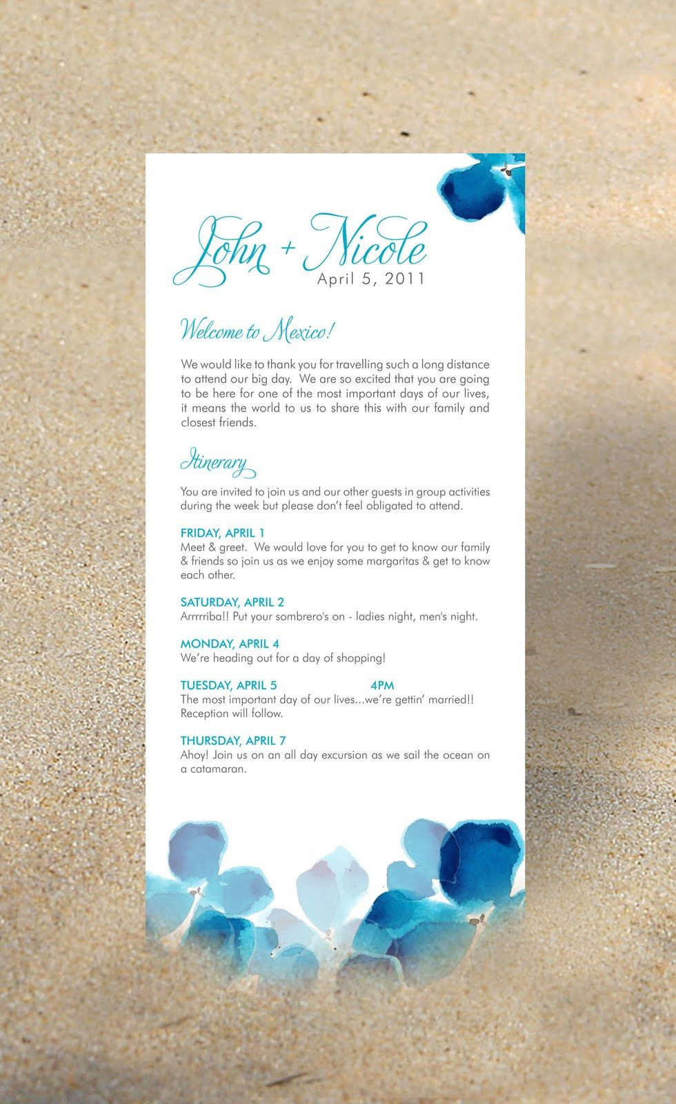 Destination Wedding Itinerary Ideas For Guests