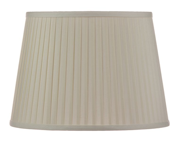 Oval Knife Pleat Eggshell Linen Lamp Shades