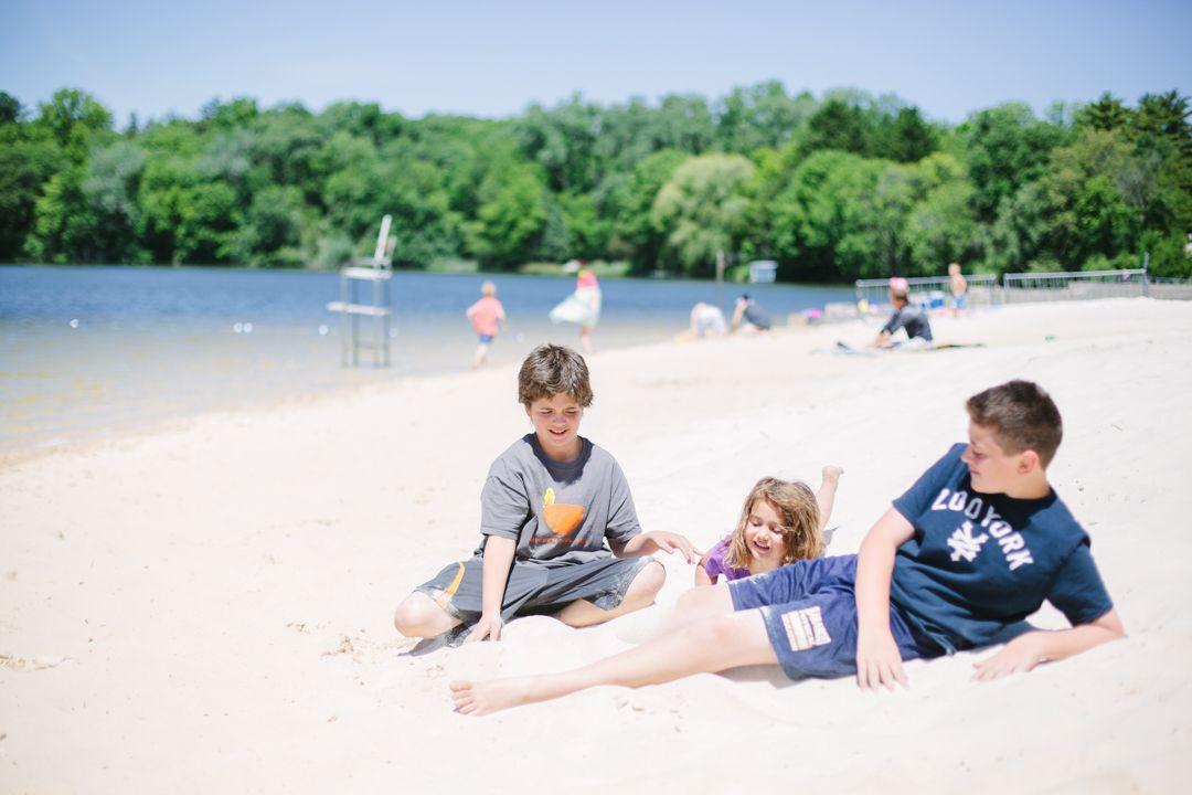 Summer Silver Lake Beach