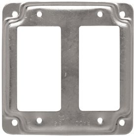 Raco 2 Gang Square Metal Electrical Box Cover Item 102511