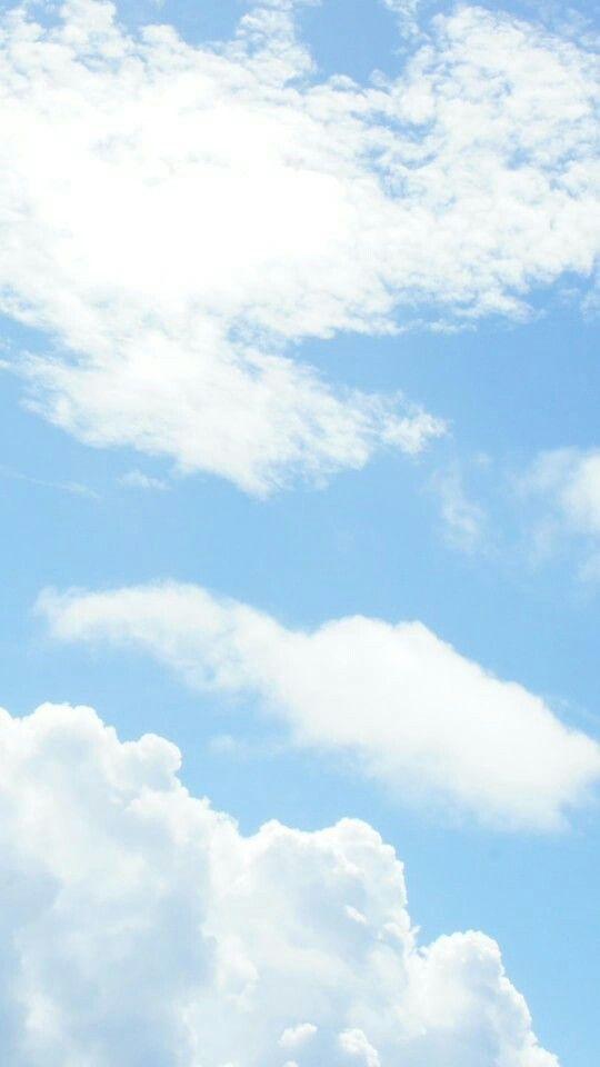 Wallpaper Blue Sky Clouds Pastel Sky Scenery Wallpaper