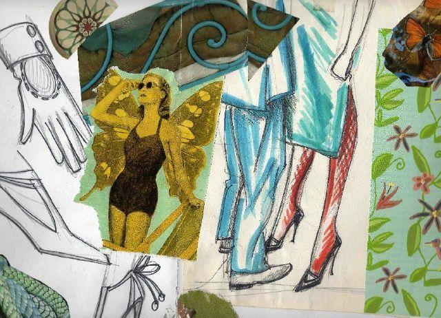 collage et dessin