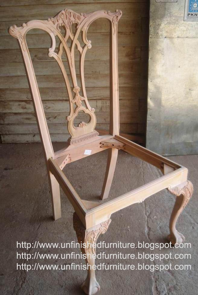 Unfinished Classic Furniture Classic Chippendale Chair Mahogany