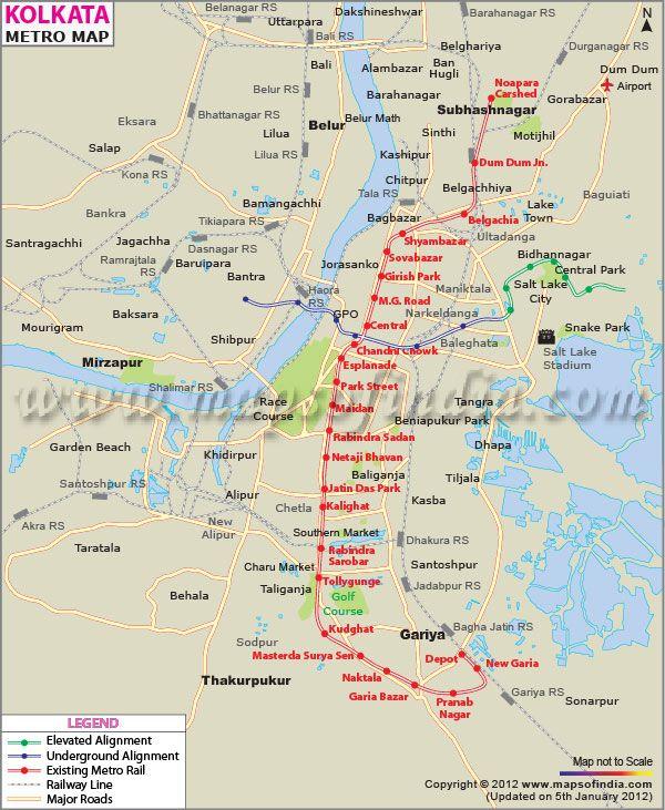 Subway Map Route.Metro Map Of Kolkata Railway Maps In 2019 Metro Route Map