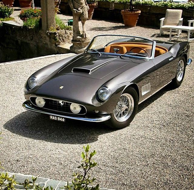 1961 Ferrari 250 Gt Swb California Spyder By Scaglietti Car Wheels Classic Cars Classic Sports Cars
