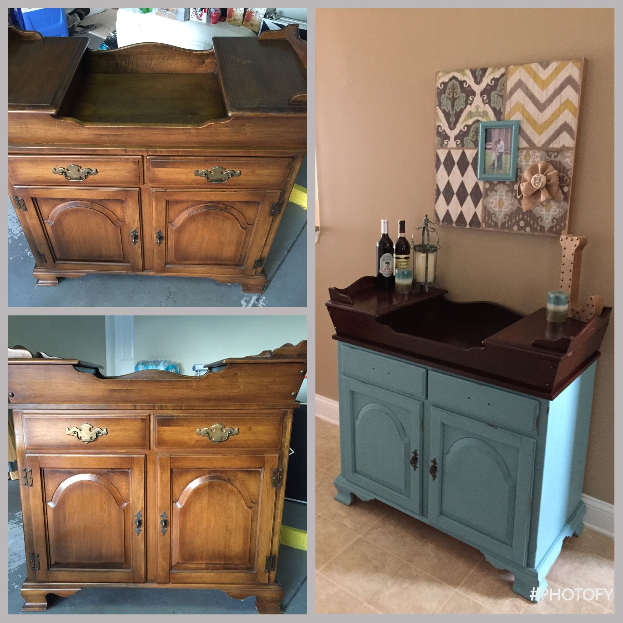 An Old Dry Sink That I Am Repurposing Into A Wine Bar At My