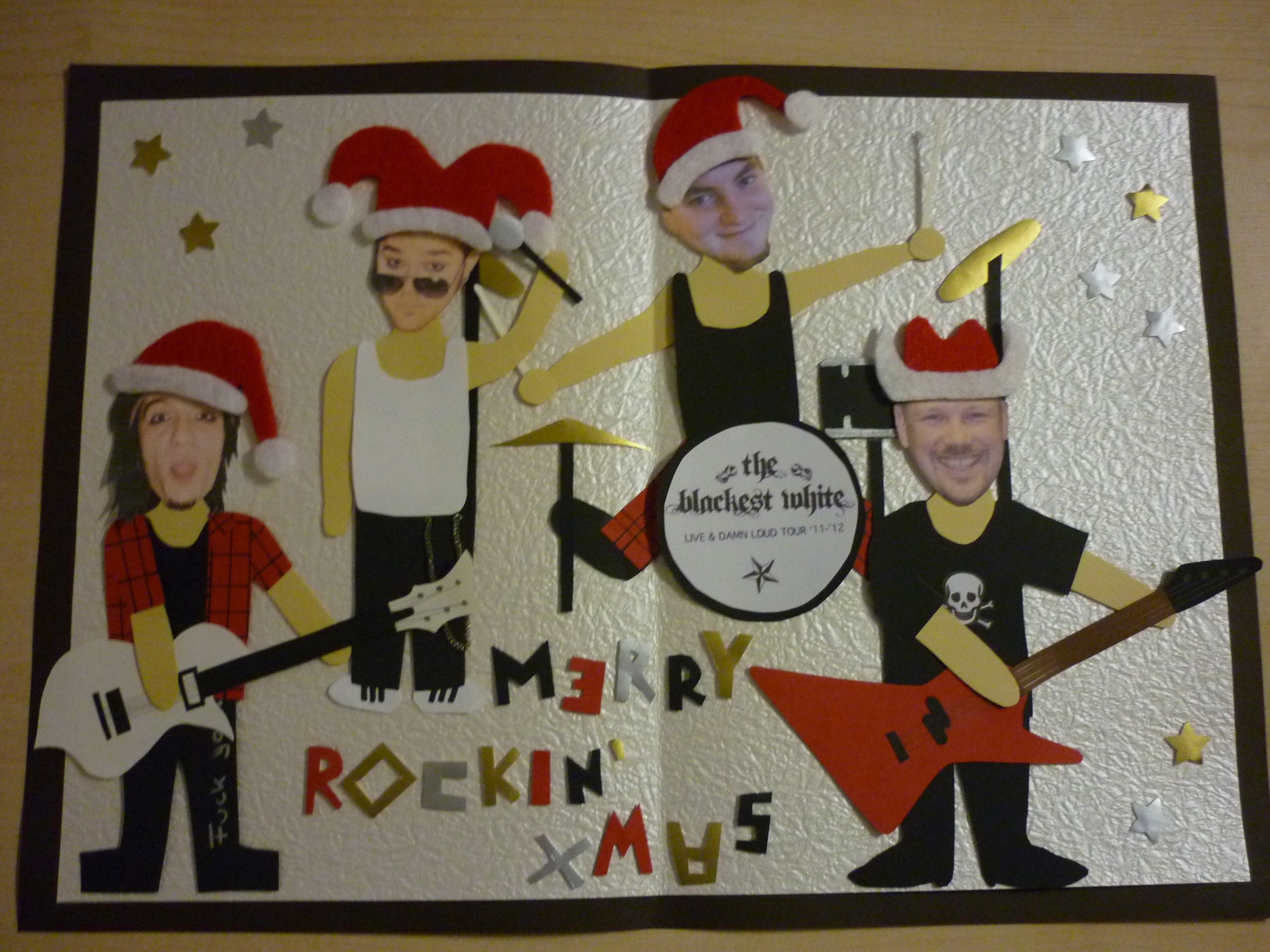 Christmas Card – Rock Band