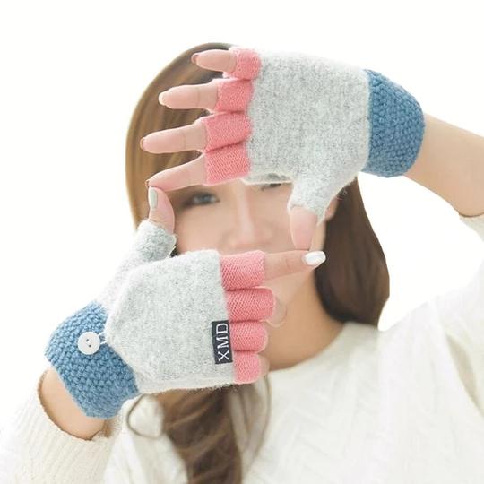 New Cute Knitted Hot Fashion New Girls Warmer Gloves Hand Wrist Fingerless