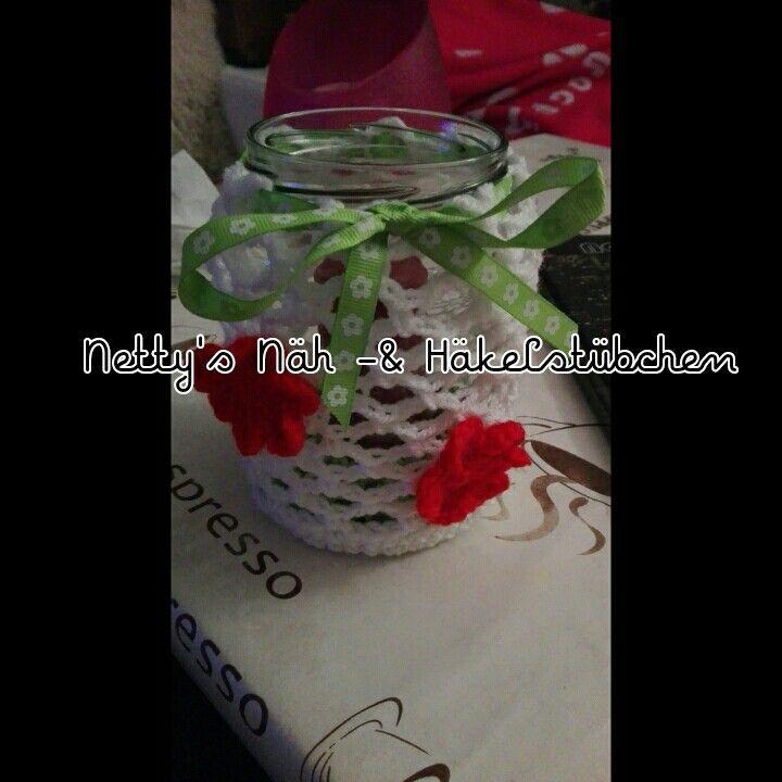 #Blüten #Windlicht #Geburtstagsgeschenk für meine #Schwester ich hoffe sie freut sich.