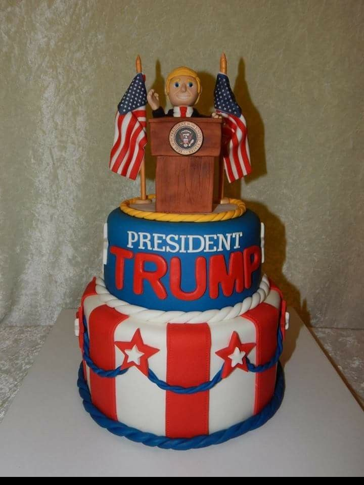 President Donald Trump Cake By Little Cakes On The Prairie