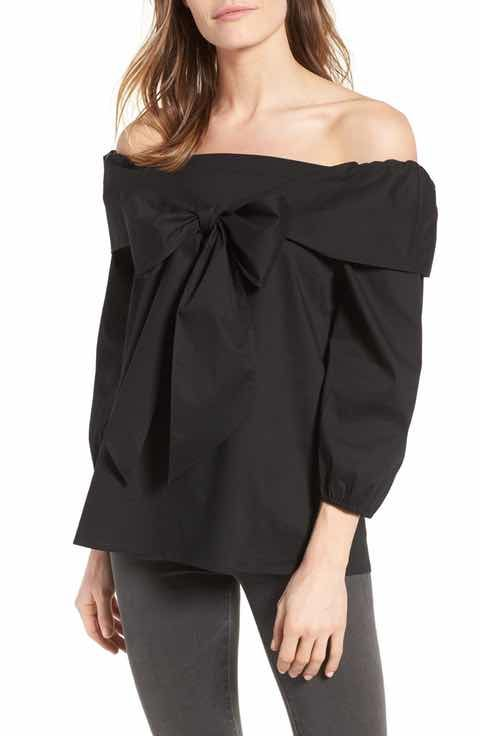 Pleione Bow Front Off the Shoulder Top