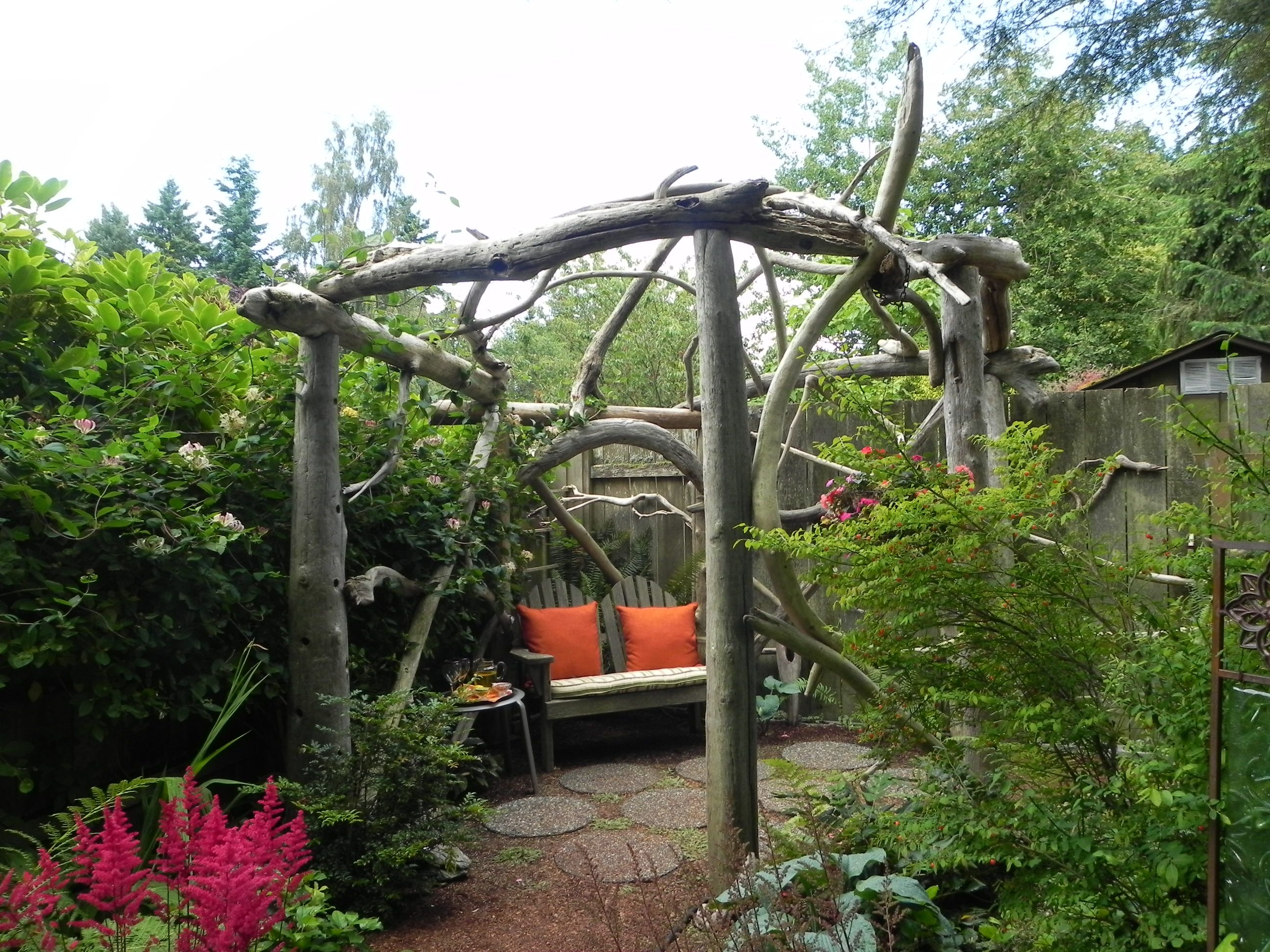 rustic garden ideas This rustic pergola represents the