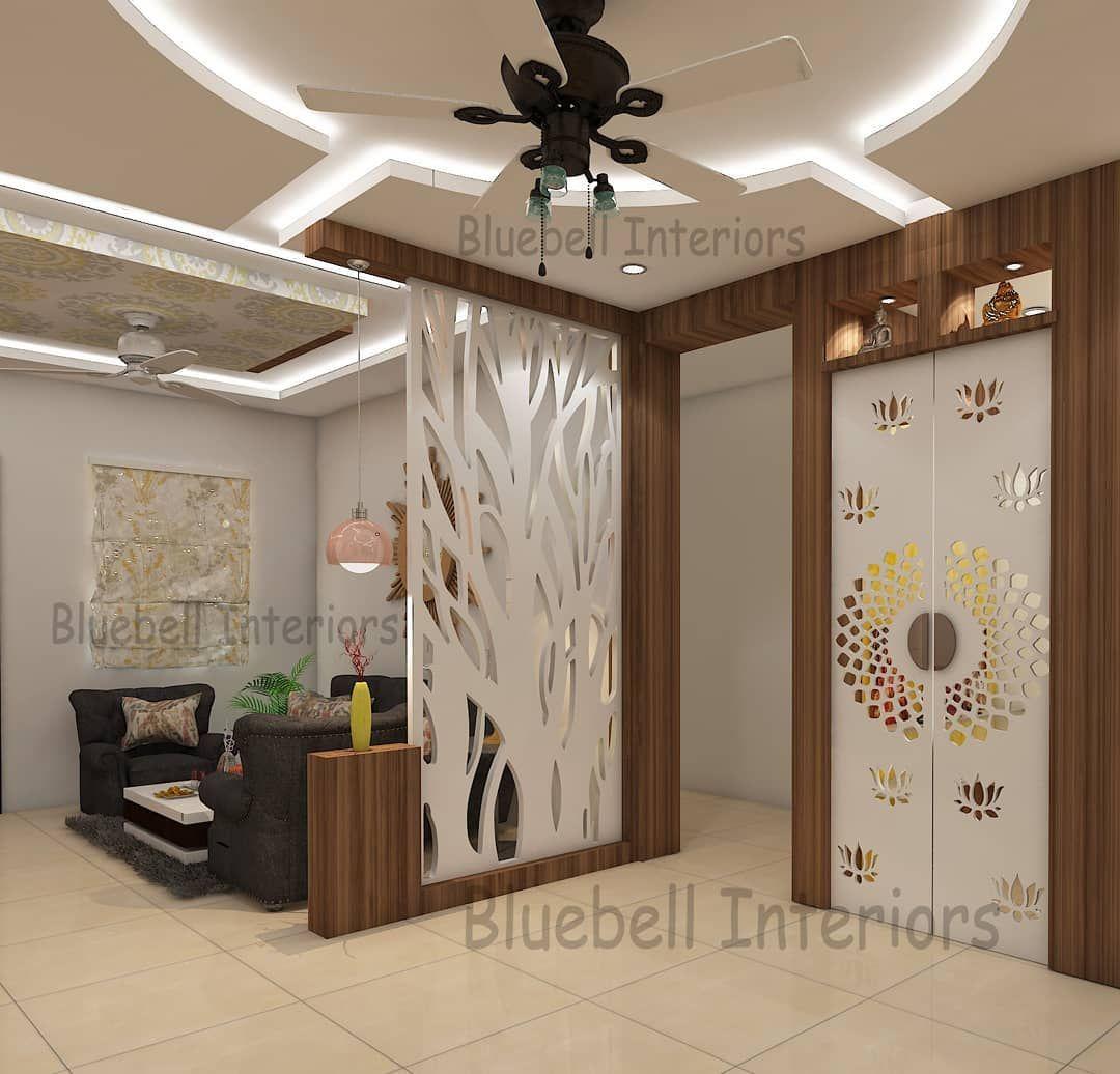 Partition To Hide Kitchen Entrance Pooja Door Interiordesign